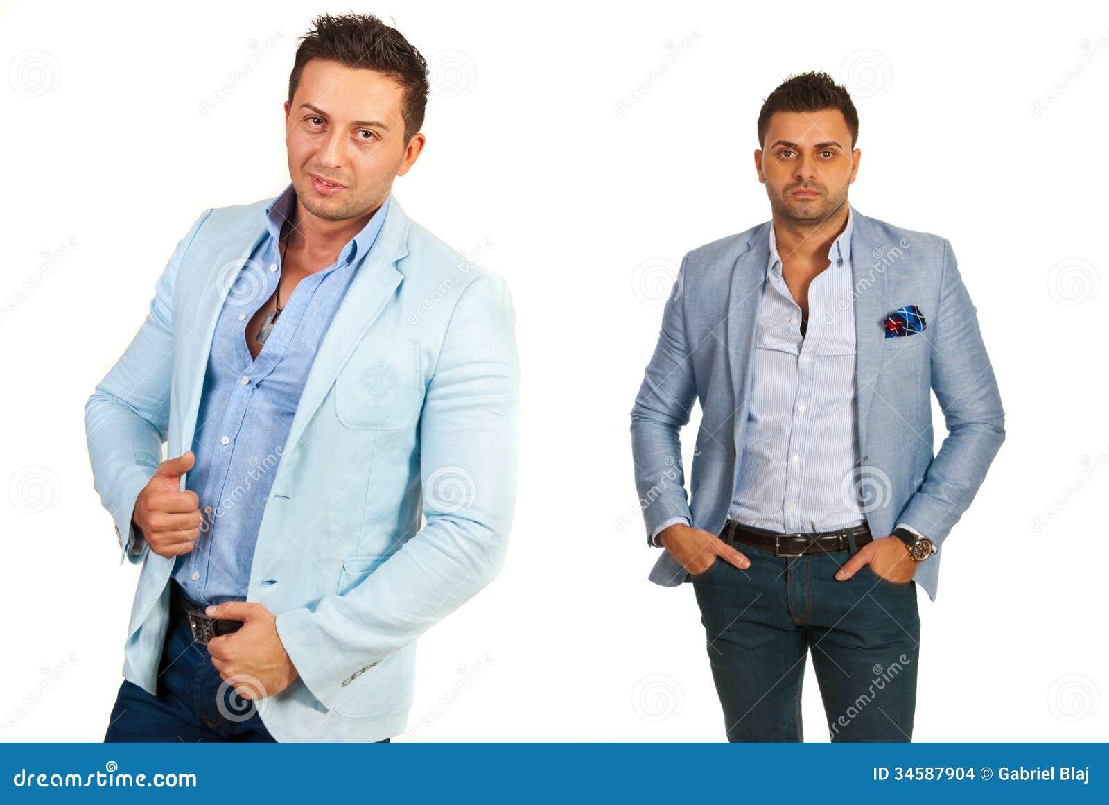 0c76a9a6ce4f Ελκυστικά άτομα στα περιστασιακά κοστούμια Στοκ Εικόνες - εικόνα από ...
