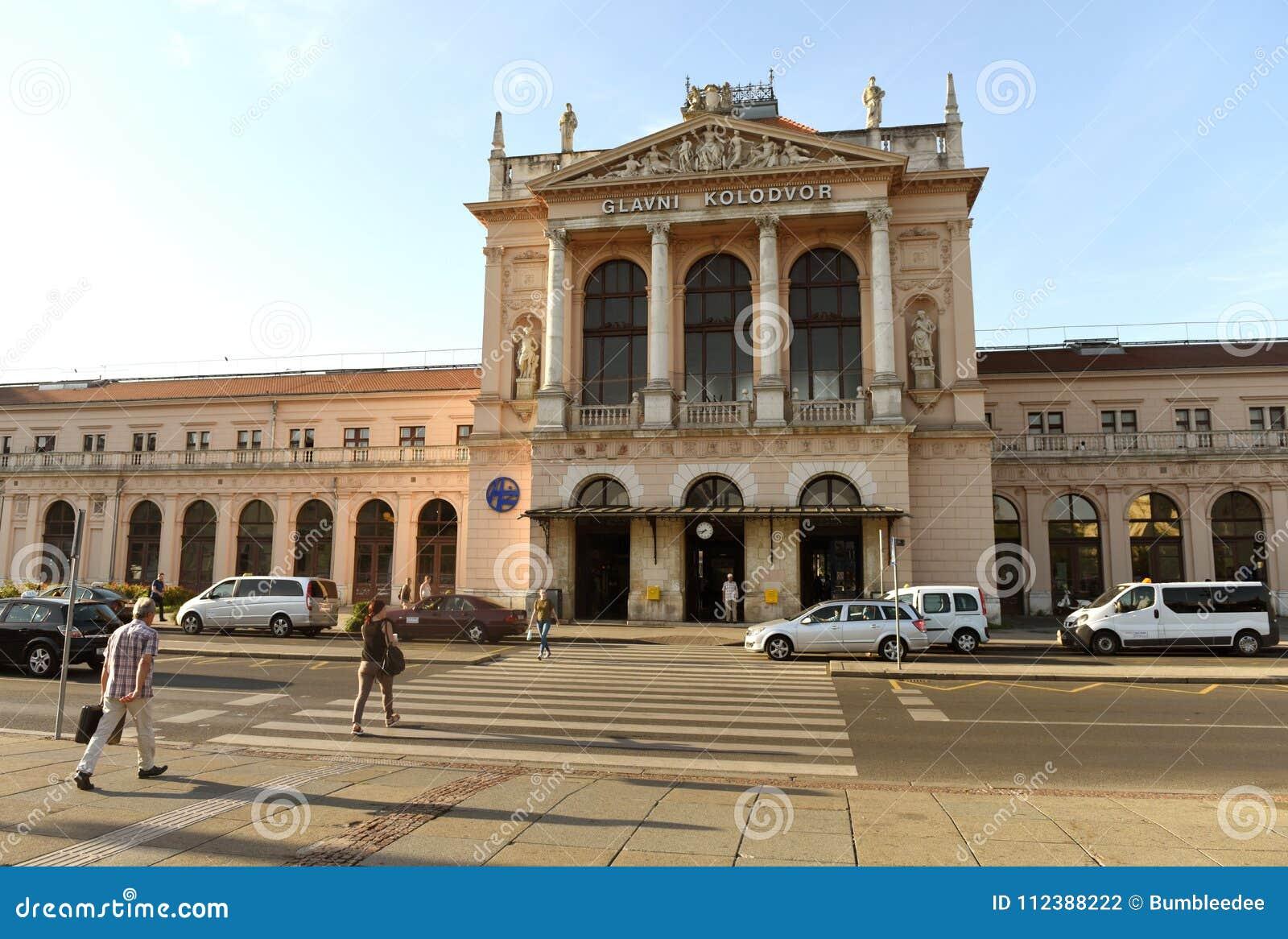 Ζάγκρεμπ, Κροατία - 18 Αυγούστου 2017: Κύριο bui σταθμών τρένου του Ζάγκρεμπ