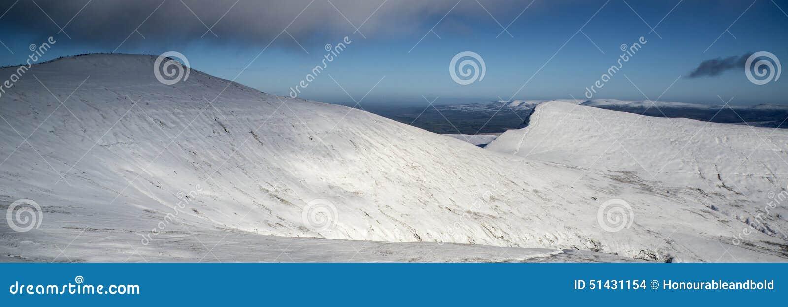 Ζαλίζοντας πνεύμα επαρχίας χειμερινών πανοραμικό τοπίων χιονισμένο