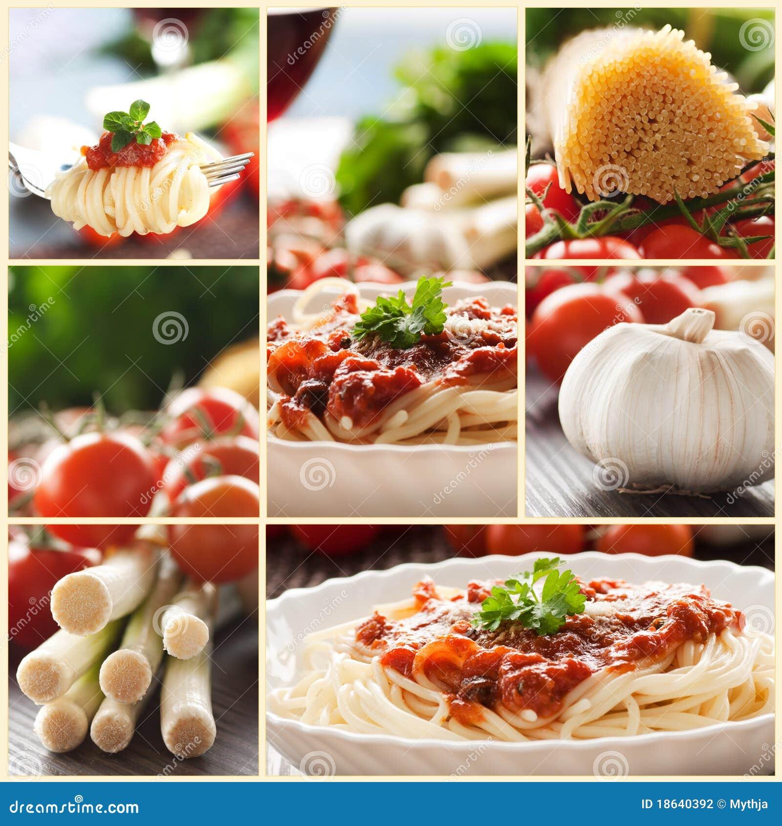 ζυμαρικά κολάζ