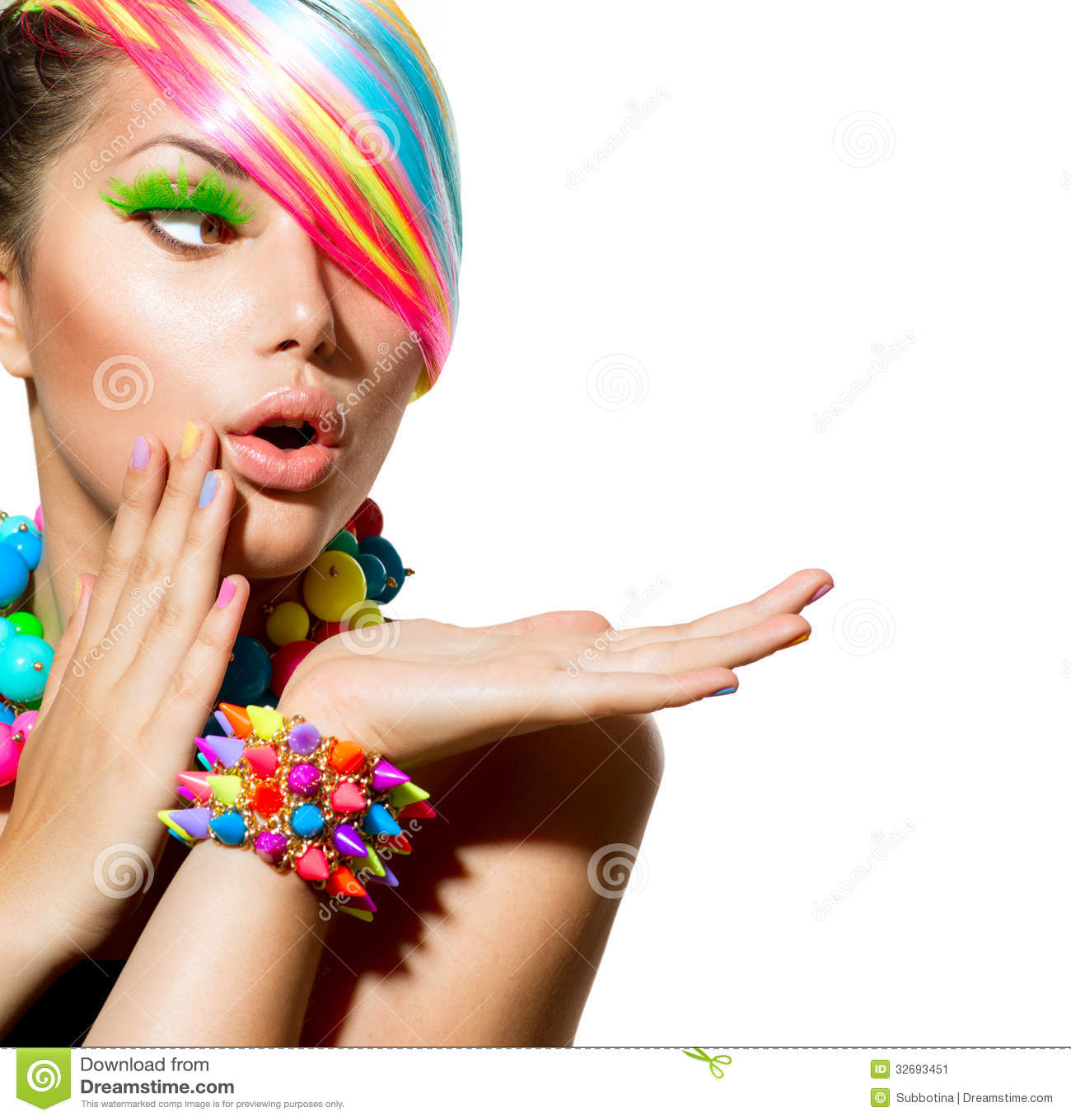Ζωηρόχρωμα Makeup, τρίχα και εξαρτήματα