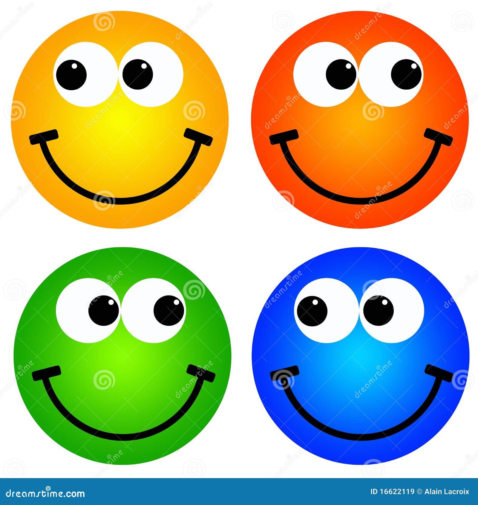 ζωηρόχρωμα smileys