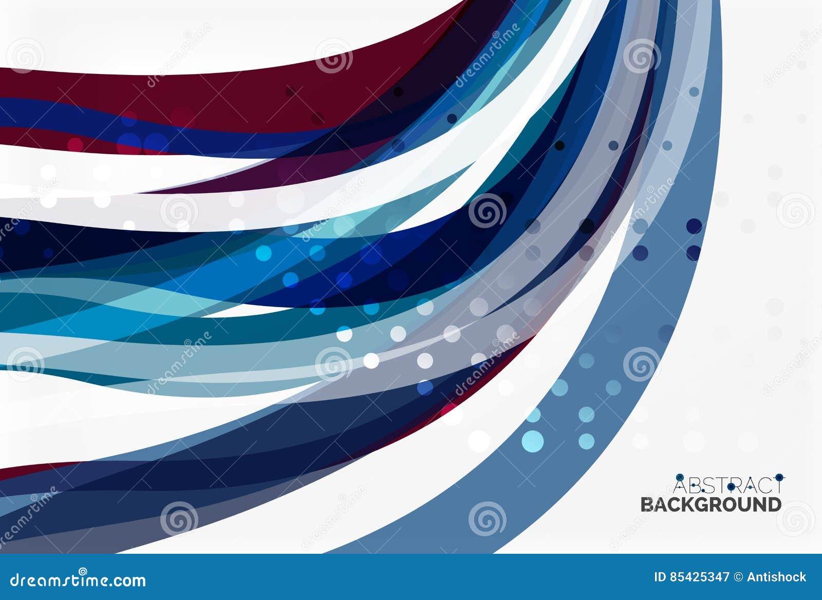 Ζωηρόχρωμες λωρίδες και γραμμές κυμάτων