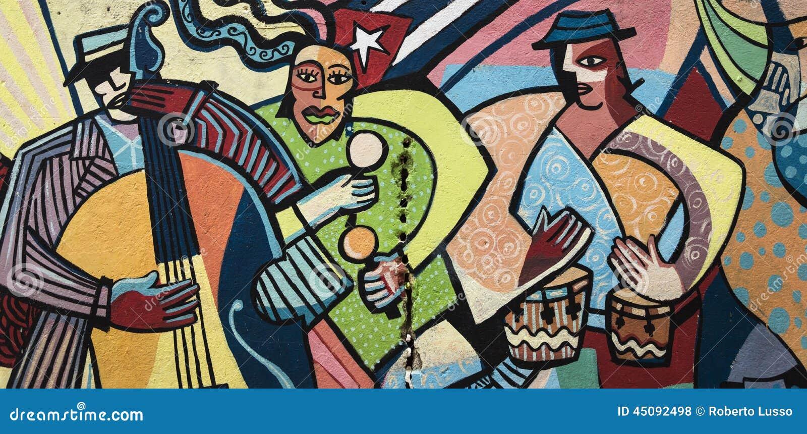 Ζωηρόχρωμη ζωγραφική τοίχων στην Αβάνα, Κούβα