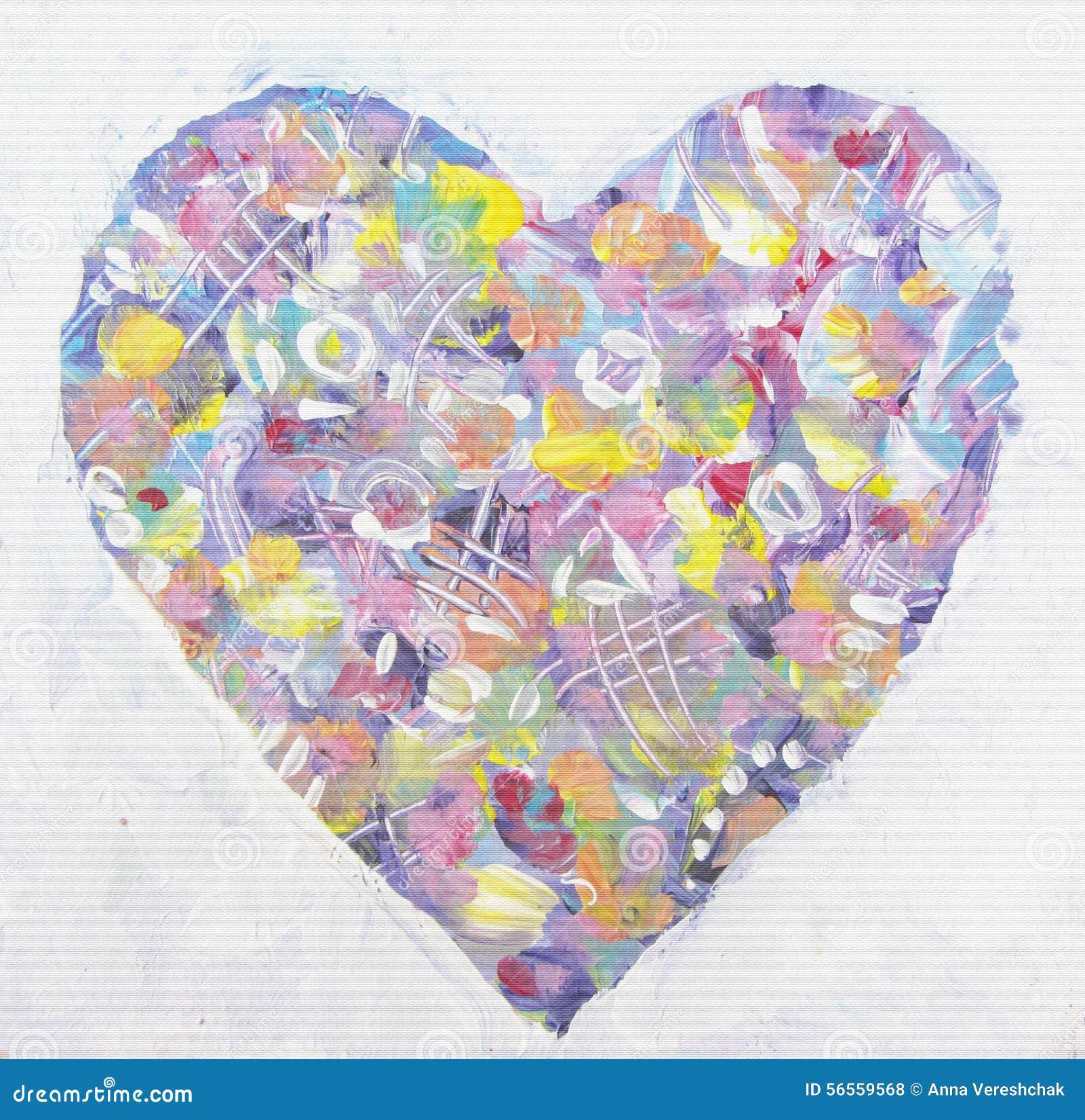 Download Ζωηρόχρωμη καρδιά Grunge στο αφηρημένο ύφος Τέχνη αγάπης Απεικόνιση αποθεμάτων - εικονογραφία από κάρτα, μάρτιος: 56559568