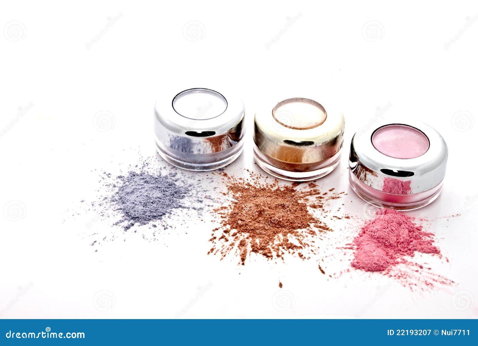 ζωηρόχρωμη σκόνη makeup