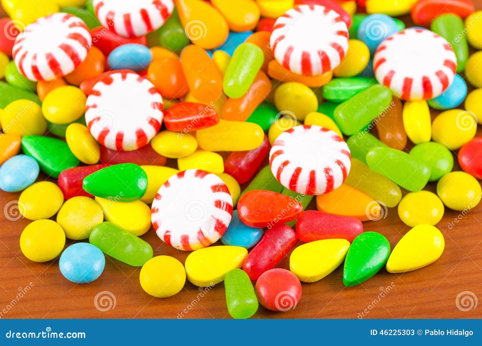 Ζωηρόχρωμη σύσταση καραμέλας καραμελών γλυκών