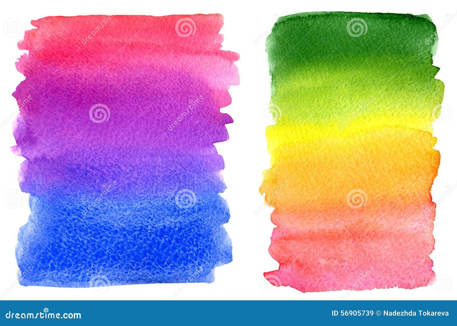 Ζωηρόχρωμοι λεκέδες χρωμάτων ουράνιων τόξων Watercolor