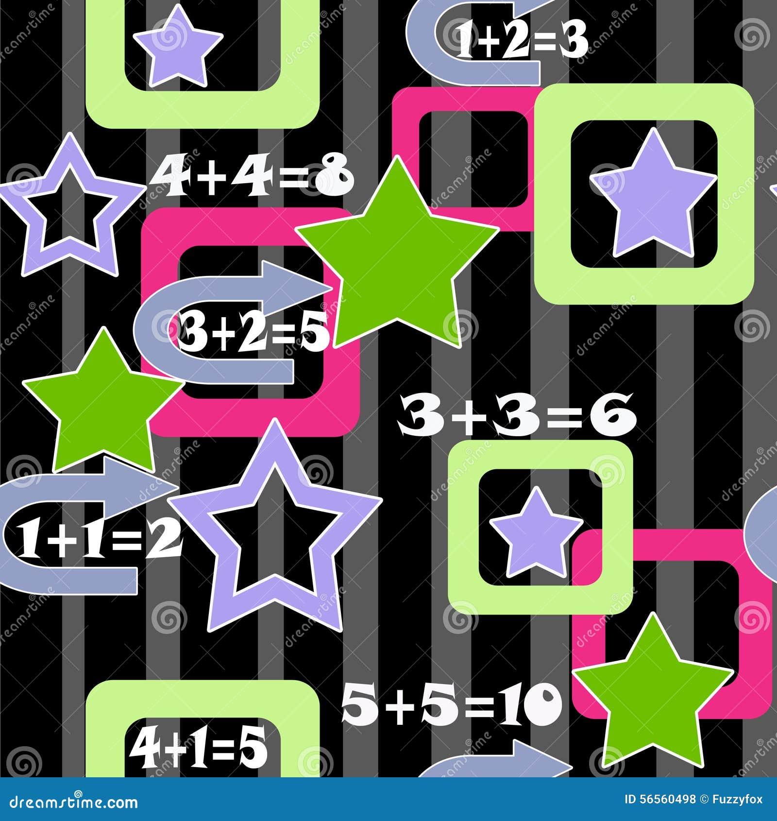 Download Ζωηρόχρωμο άνευ ραφής σχέδιο υποβάθρου παιδιών αριθμών και αστεριών Απεικόνιση αποθεμάτων - εικονογραφία από έγγραφο, οκτώ: 56560498