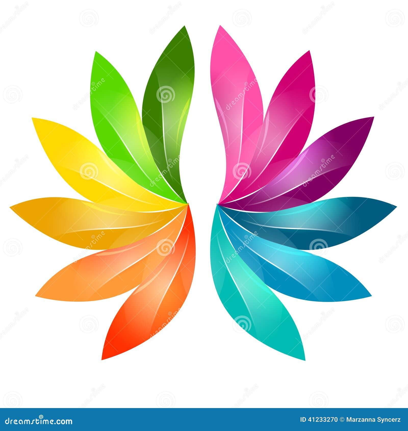 Ζωηρόχρωμο αφηρημένο floral σχέδιο