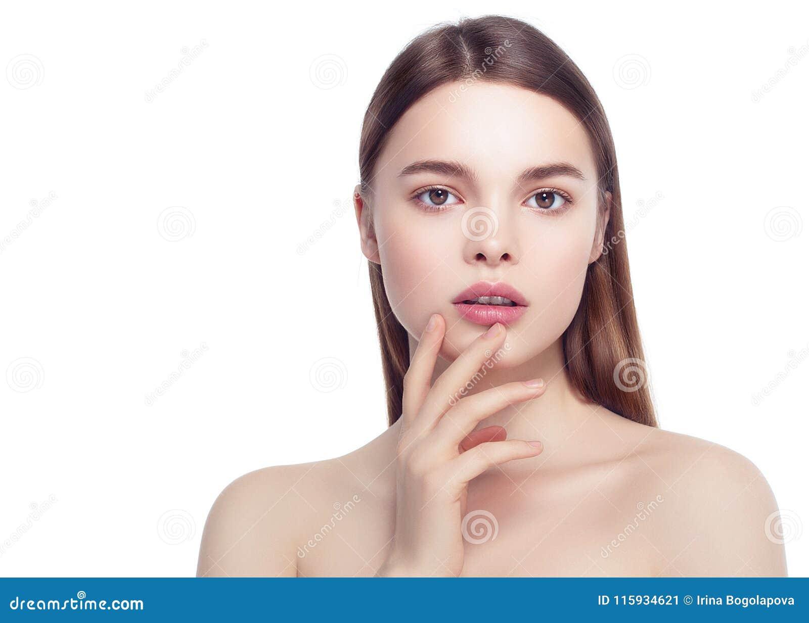 Ζωηρόχρωμο πρόσωπο γυναικών σύνθεσης, όμορφα θερινά makeup WI brunette