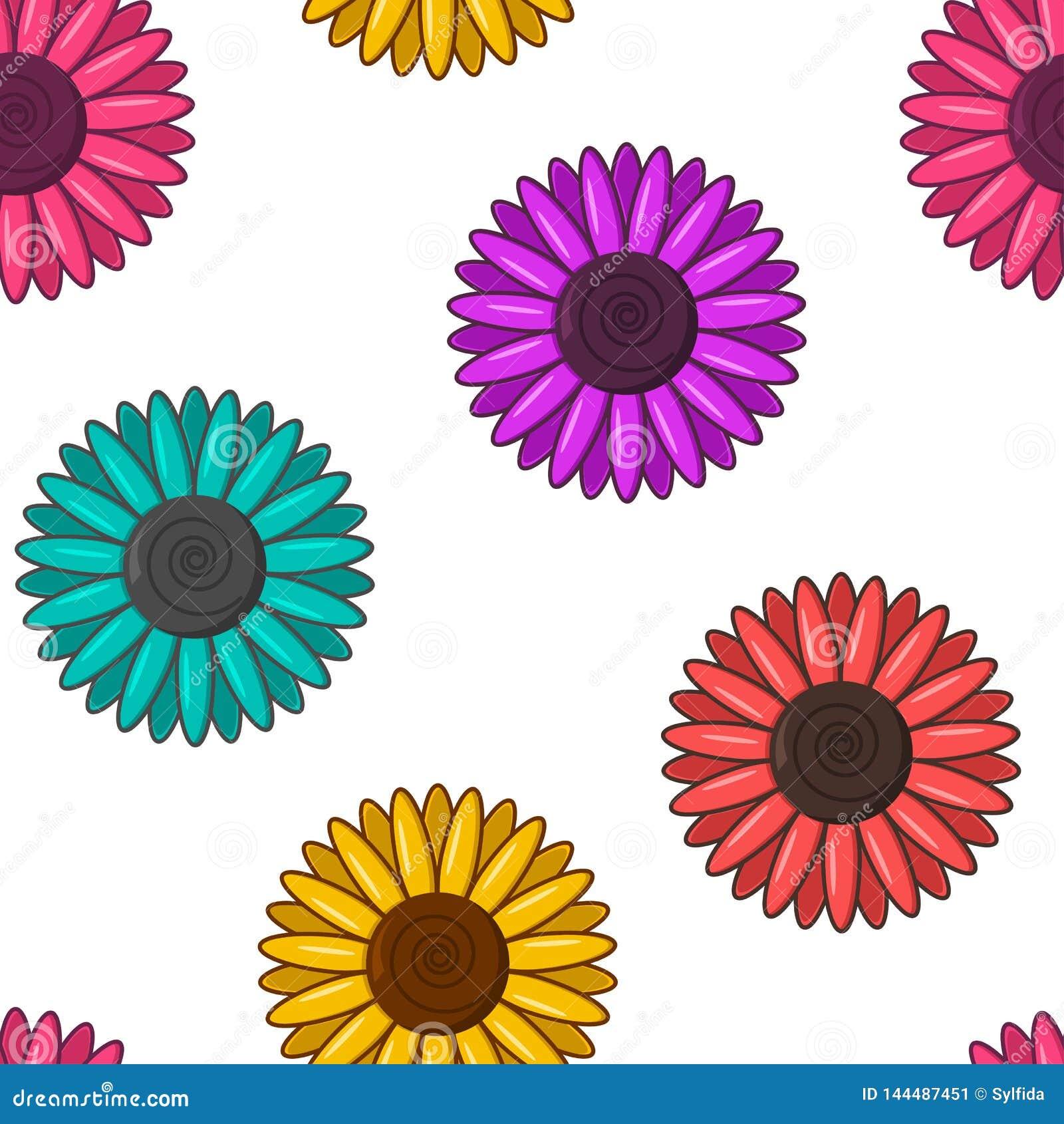 ζωηρόχρωμο πρότυπο λουλ&om επίσης corel σύρετε το διάνυσμα απεικόνισης