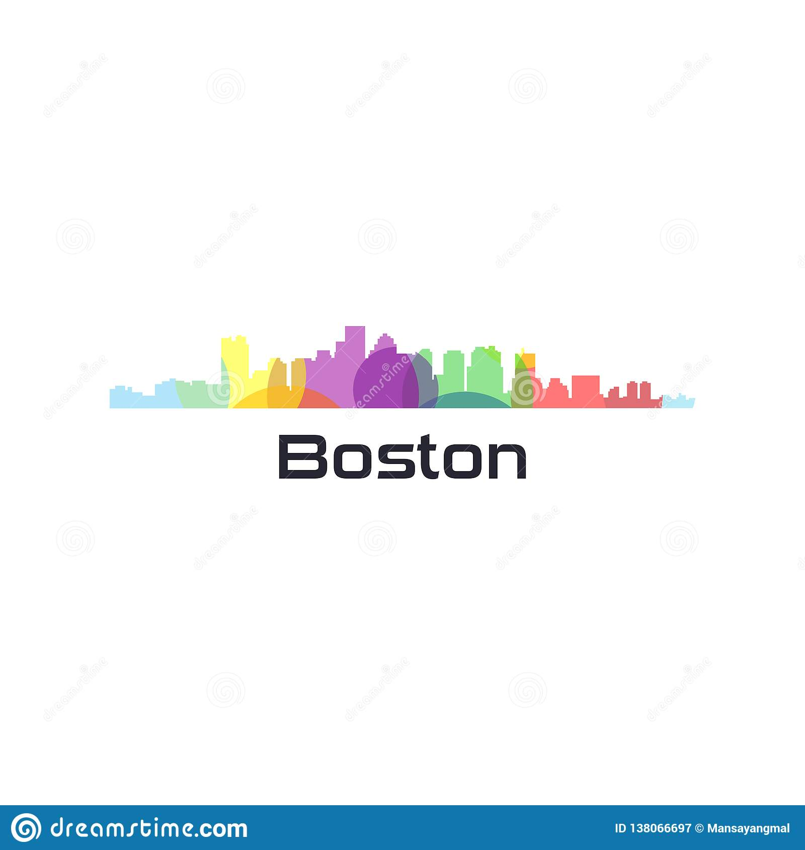 Ζωηρόχρωμο πόλης διάνυσμα των ΗΠΑ