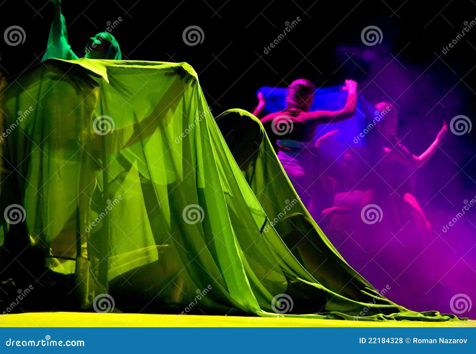 ζωηρόχρωμο χορεύοντας τ&epsilo