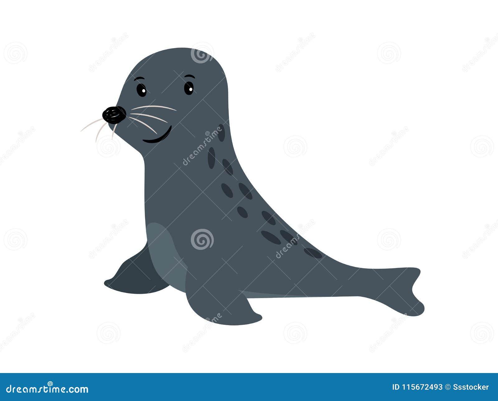 Ζωικό εικονίδιο θάλασσας σφραγίδων χαριτωμένο