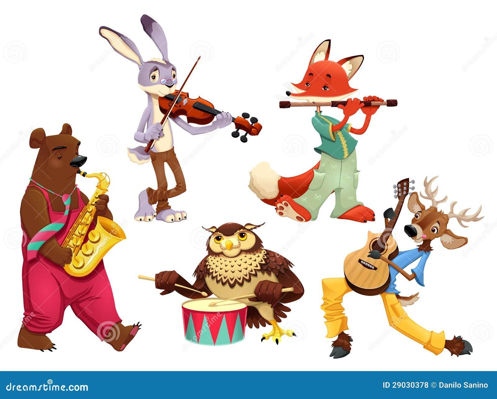Ζώα μουσικών.