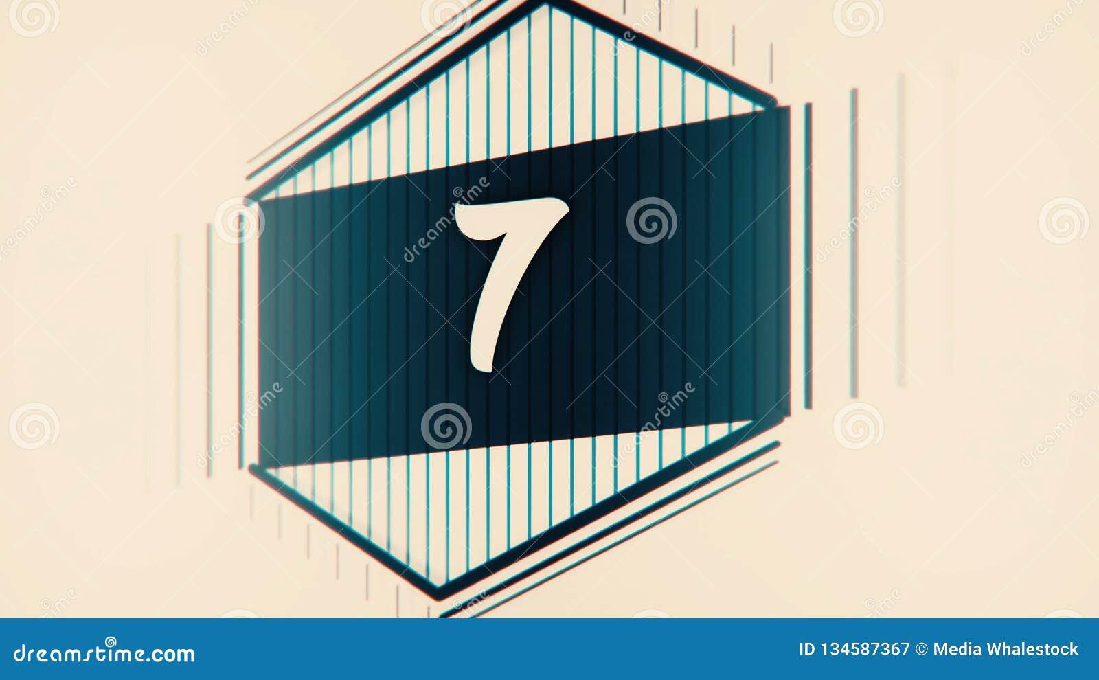 Ηγέτης αντίστροφης μέτρησης γραφικά 10 έως 0 Αρίθμηση αριθμού από 1 έως 10 Ζωτικότητα κινήσεων στάσεων με το έγγραφο χρώματος Ται