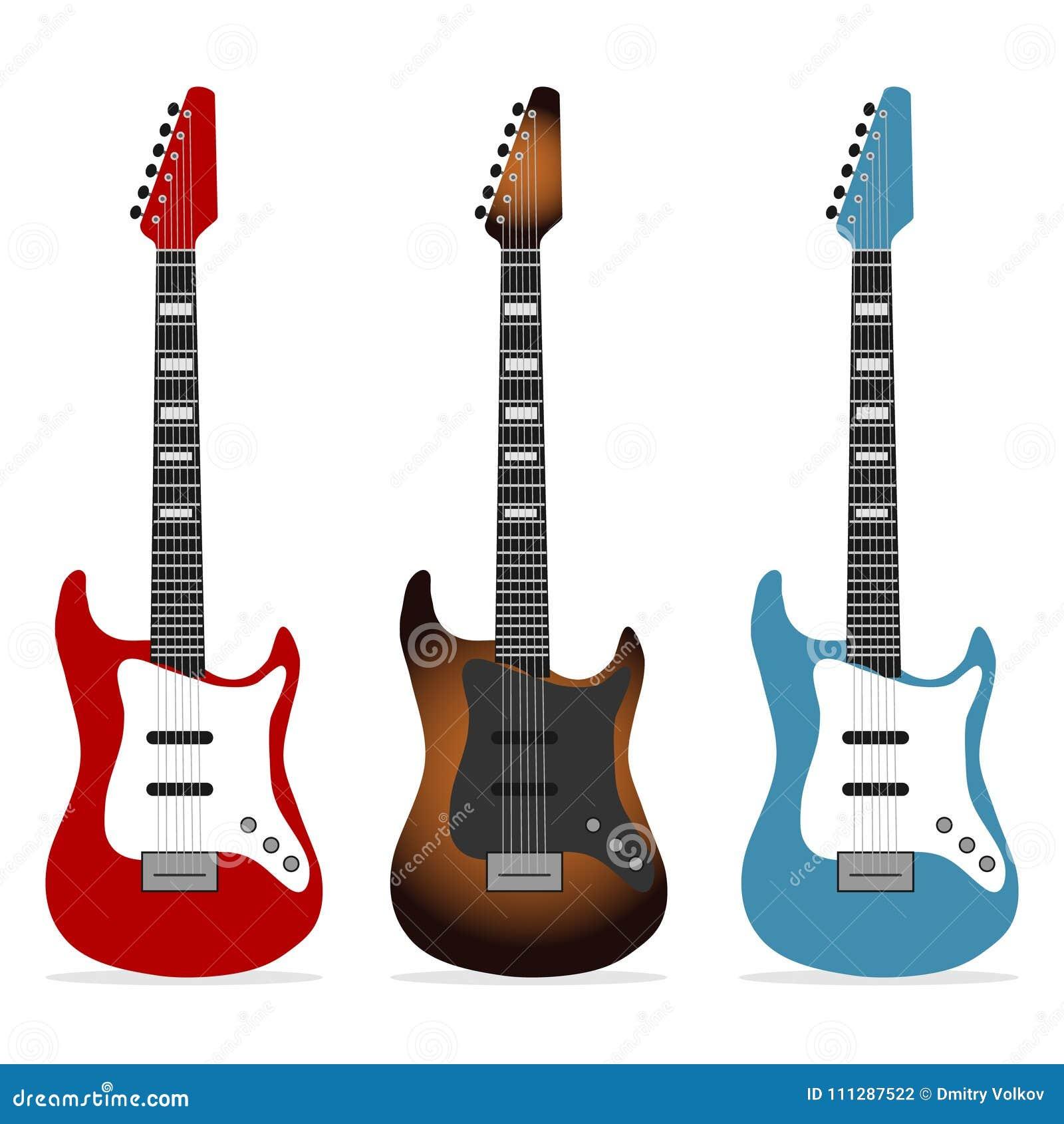 Ηλεκτρική κιθάρα, ένα σύνολο ρεαλιστικών ηλεκτρικών κιθάρων