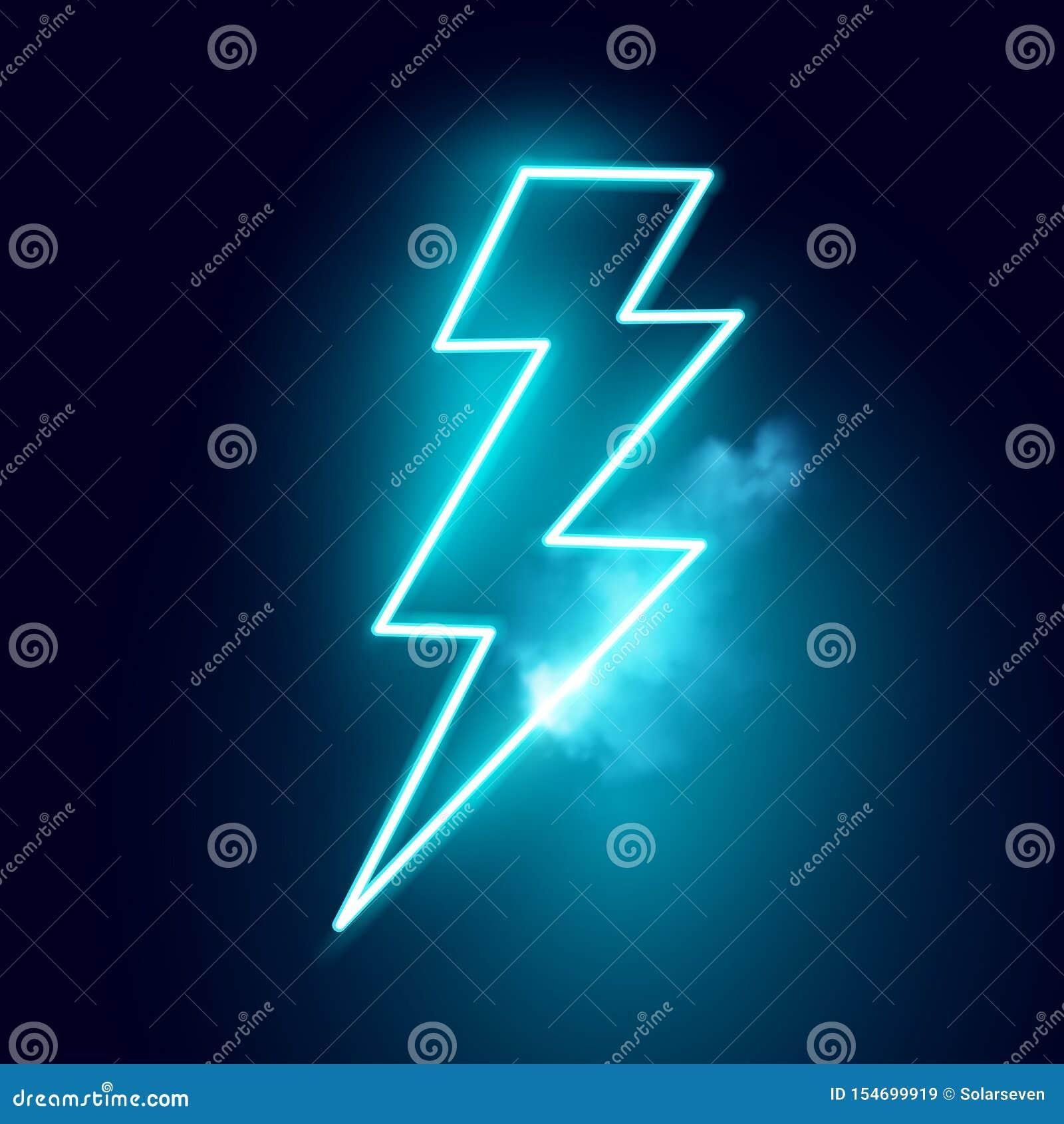 Ηλεκτρικό διάνυσμα μπουλονιών αστραπής νέου