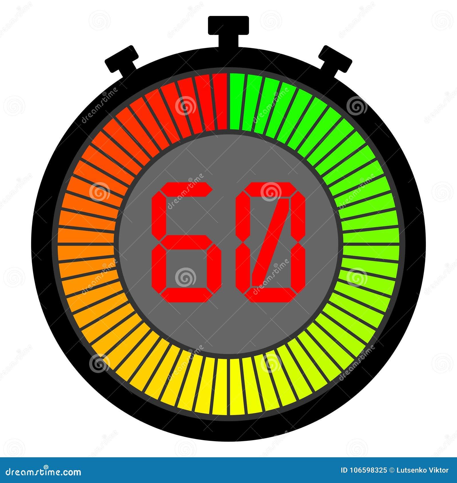 ηλεκτρονικό χρονόμετρο με διακόπτη με μια κλίση 60