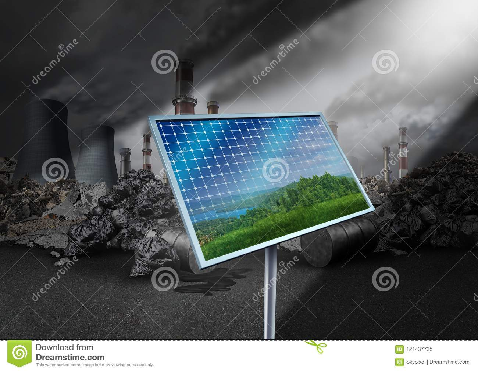 Ηλιακό πλαίσιο και ρύπανση