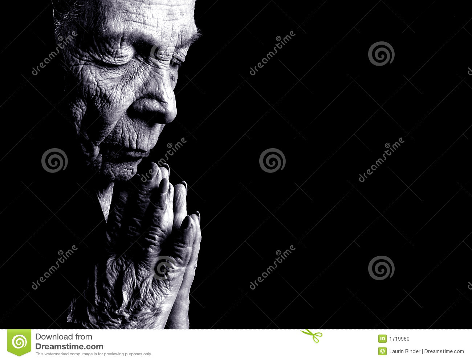 ηλικιωμένη προσευμένος &gamma