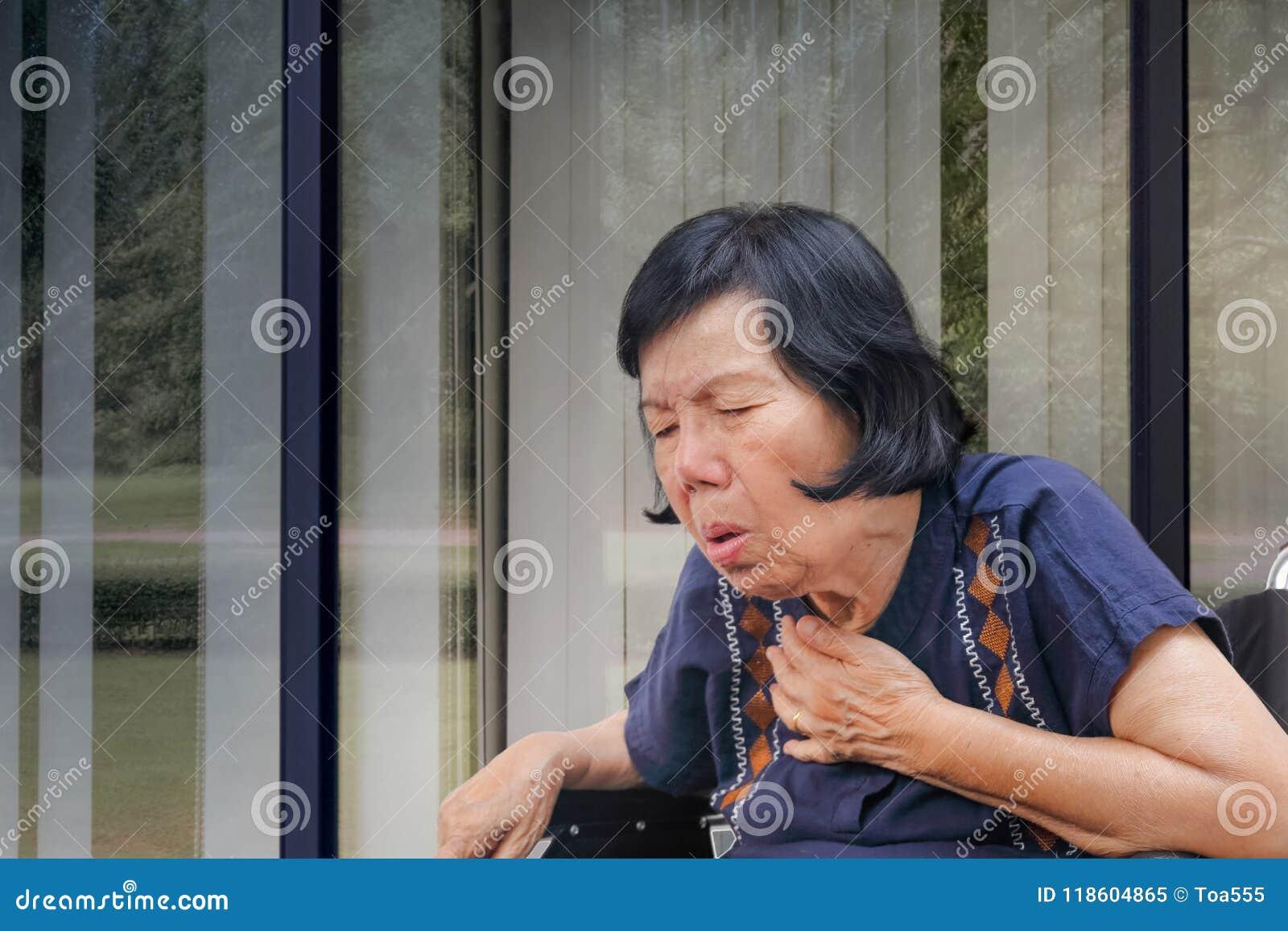 Ηλικιωμένος βήχας γυναικών, έμφραξη