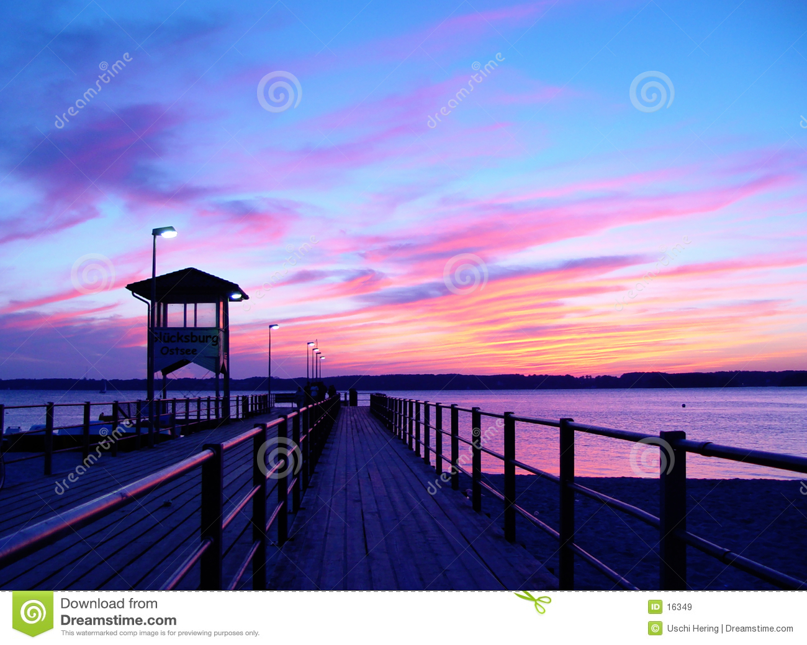 ηλιοβασίλεμα αποβαθρών