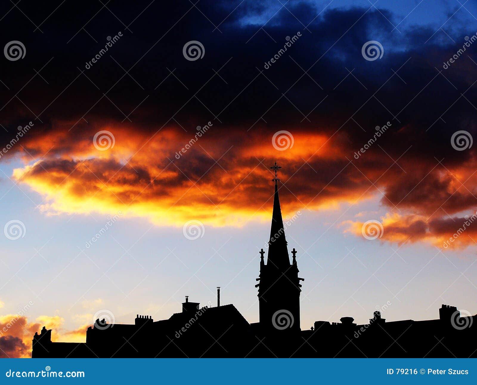 ηλιοβασίλεμα αστικό