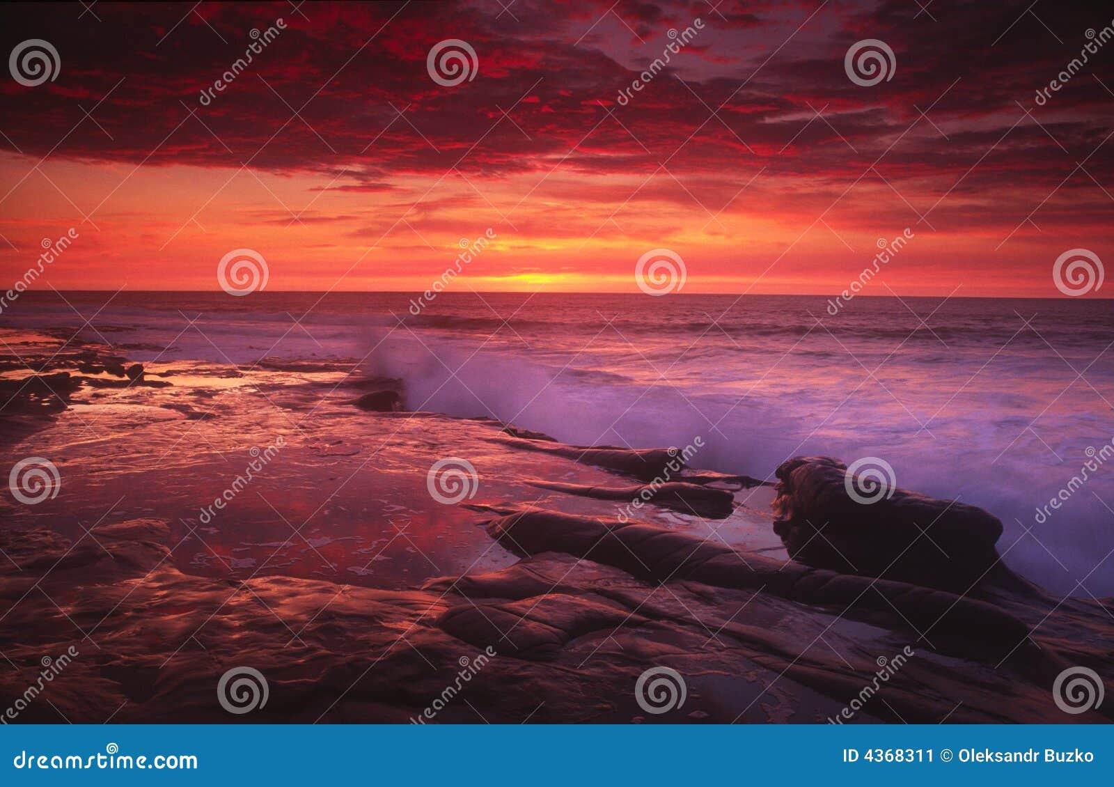 ηλιοβασίλεμα Λα SAN jolla του Di