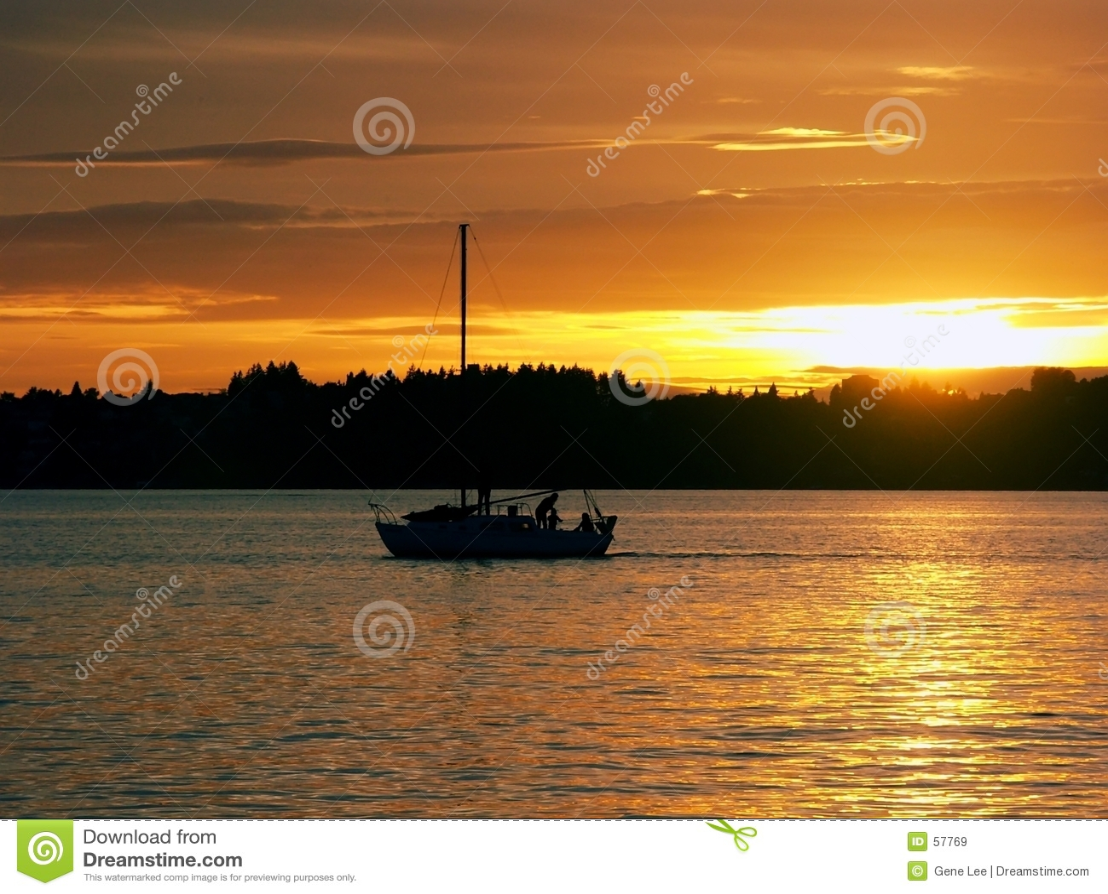 Download ηλιοβασίλεμα ναυσιπλοΐας στοκ εικόνα. εικόνα από σκιαγραφία - 57769