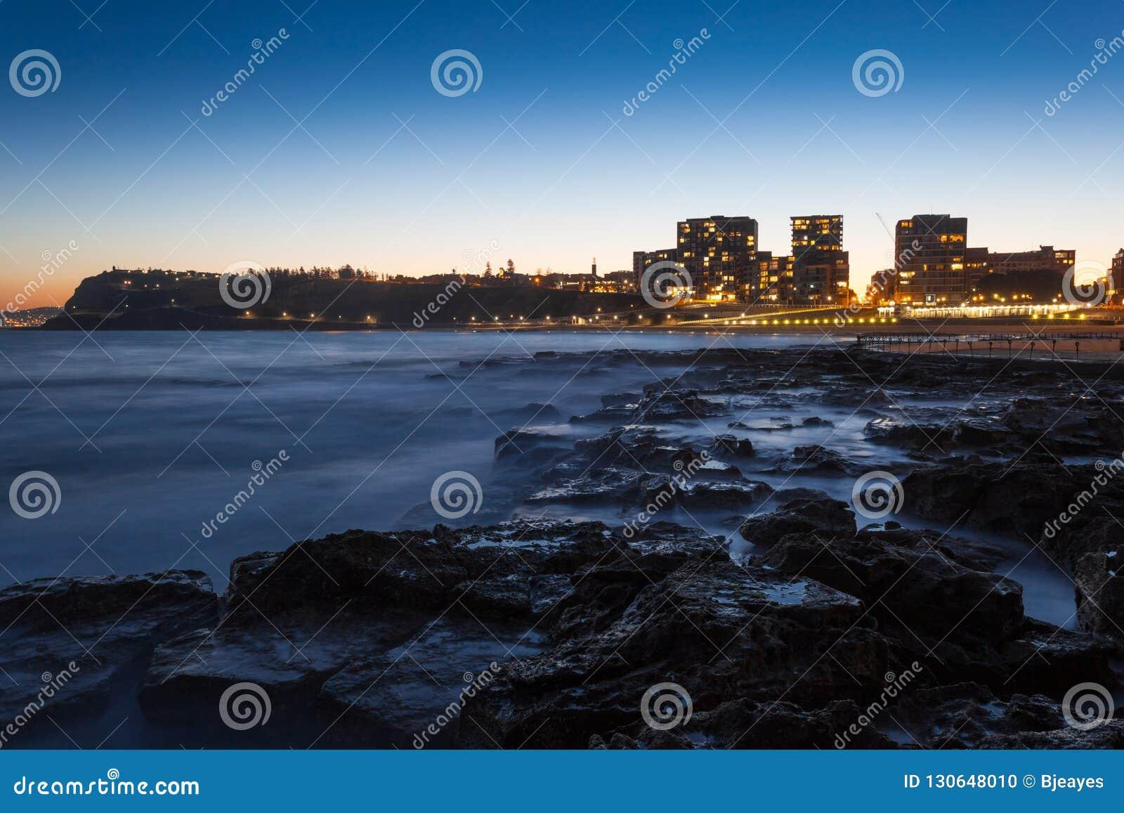 Ηλιοβασίλεμα παραλιών του Νιουκάσλ - Νιουκάσλ Νότια Νέα Ουαλία Αυστραλία