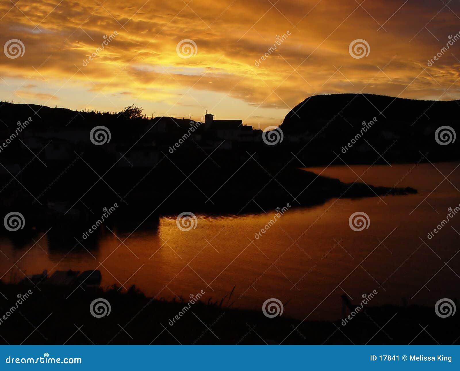 ηλιοβασίλεμα της νέας γη