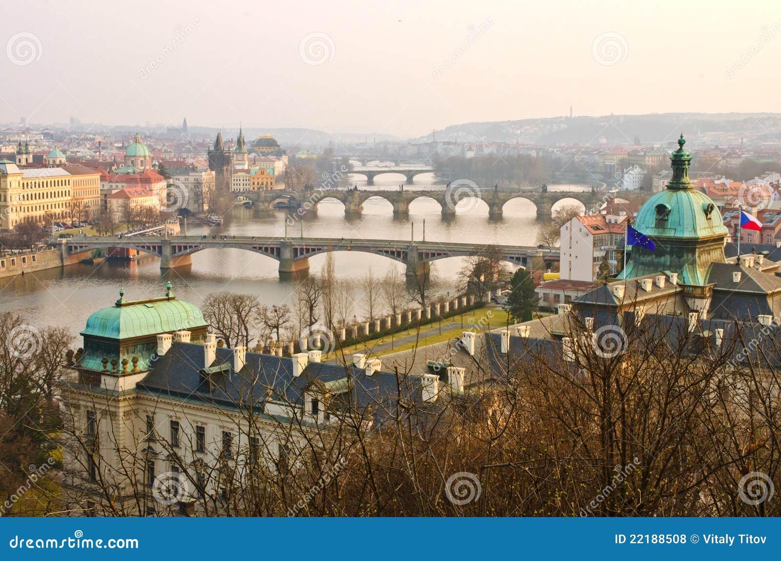 ηλιοβασίλεμα της Πράγας