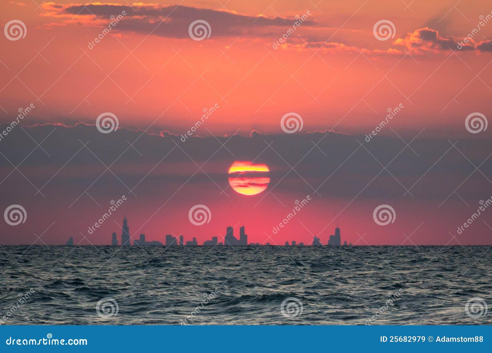ηλιοβασίλεμα του Σικάγου
