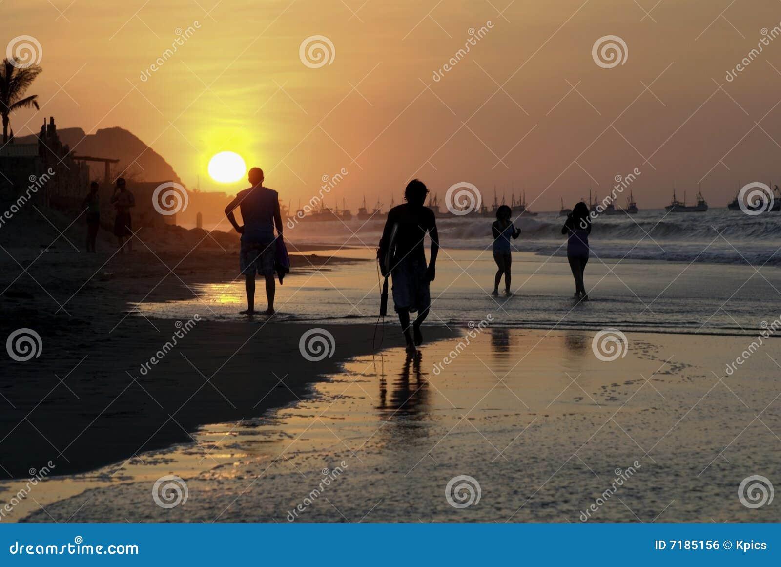 ηλιοβασίλεμα mancora παραλιών