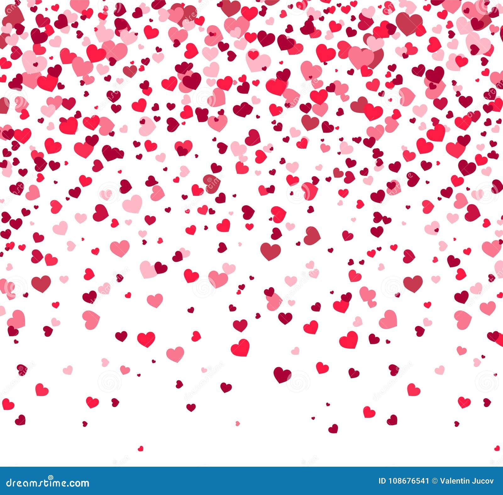 Ημέρα βαλεντίνων - διανυσματική ευχετήρια κάρτα με τις καρδιές στο άσπρο υπόβαθρο