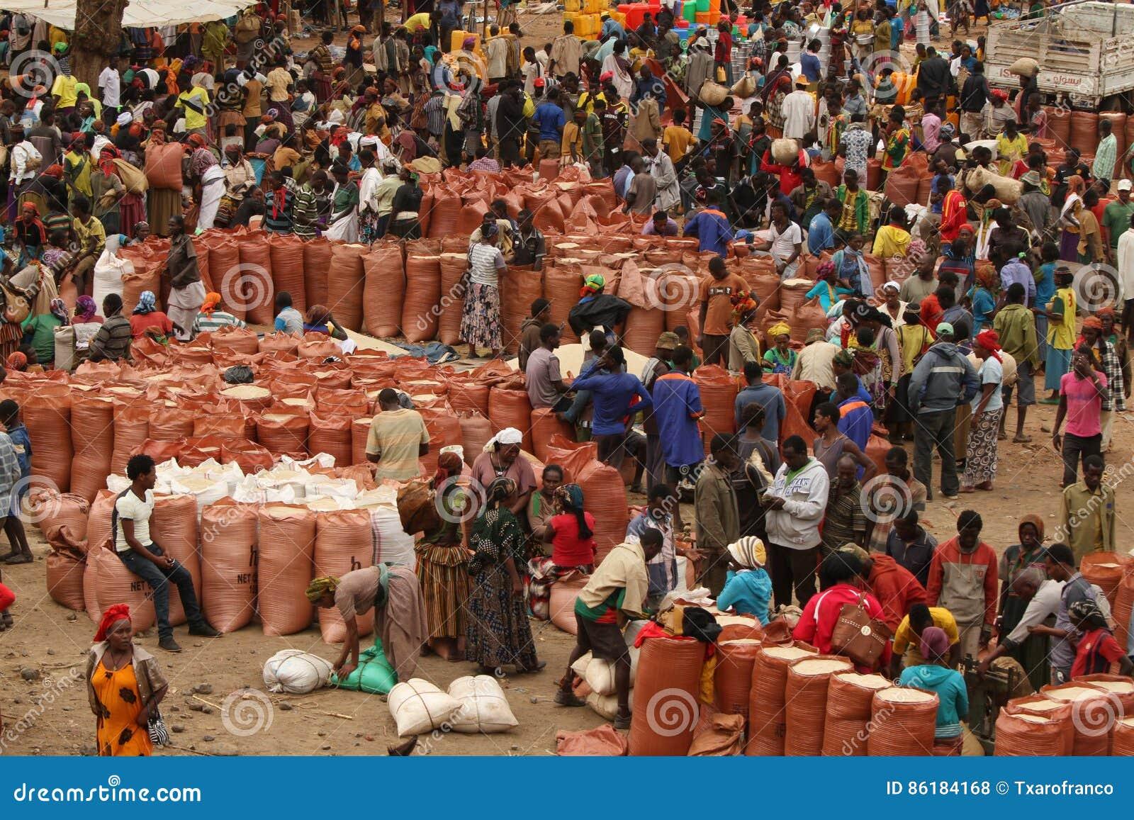 Ημέρα της αγοράς σε Mande Αιθιοπία