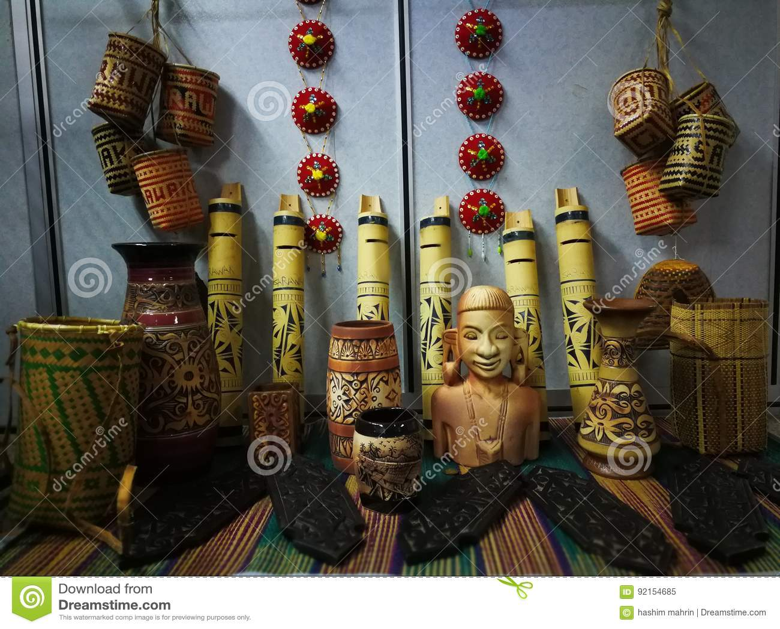 ημέρα φεστιβάλ gawai διακοσμήσεων