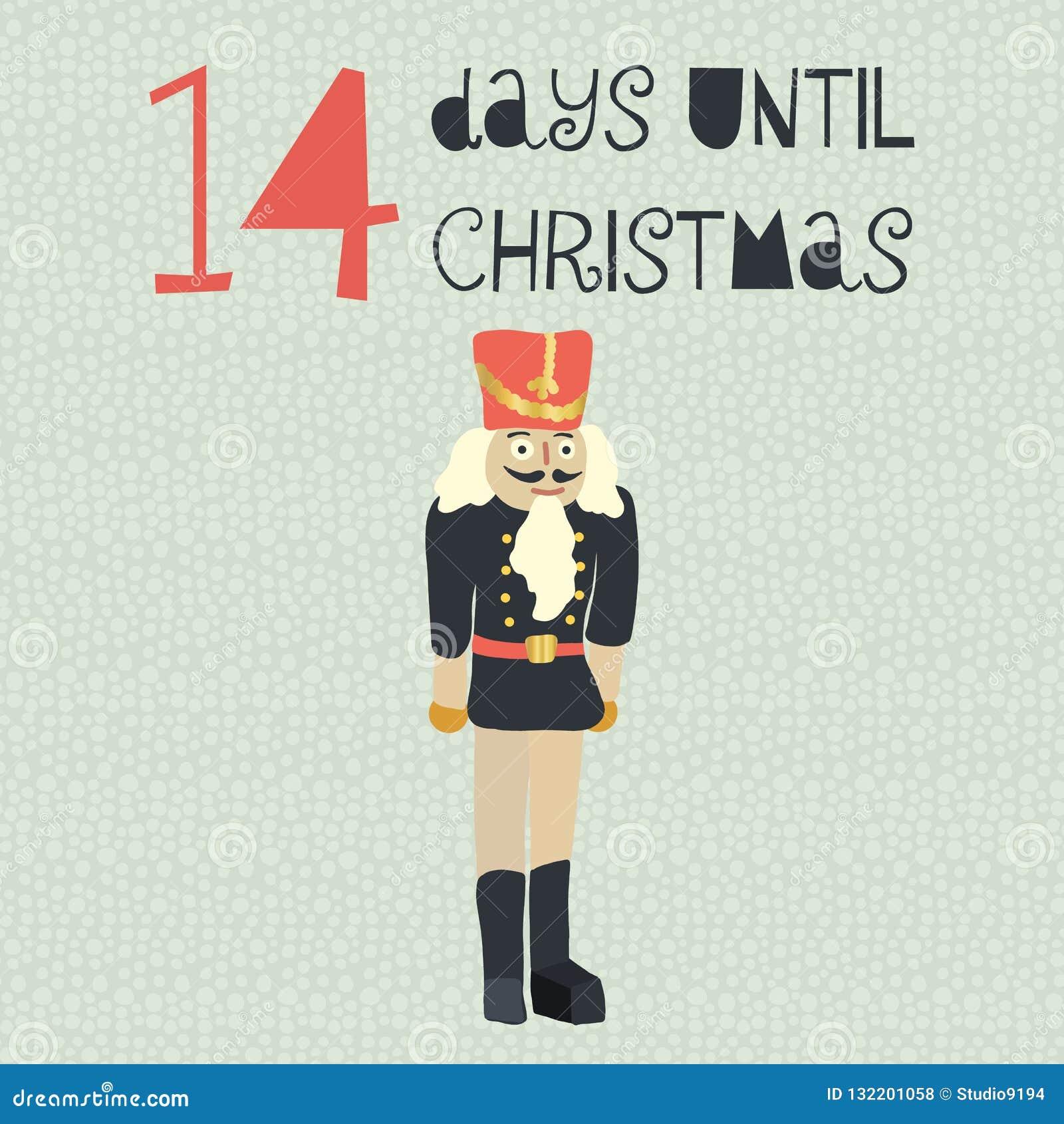 14 ημέρες μέχρι τη διανυσματική απεικόνιση Χριστουγέννων christmas countdown