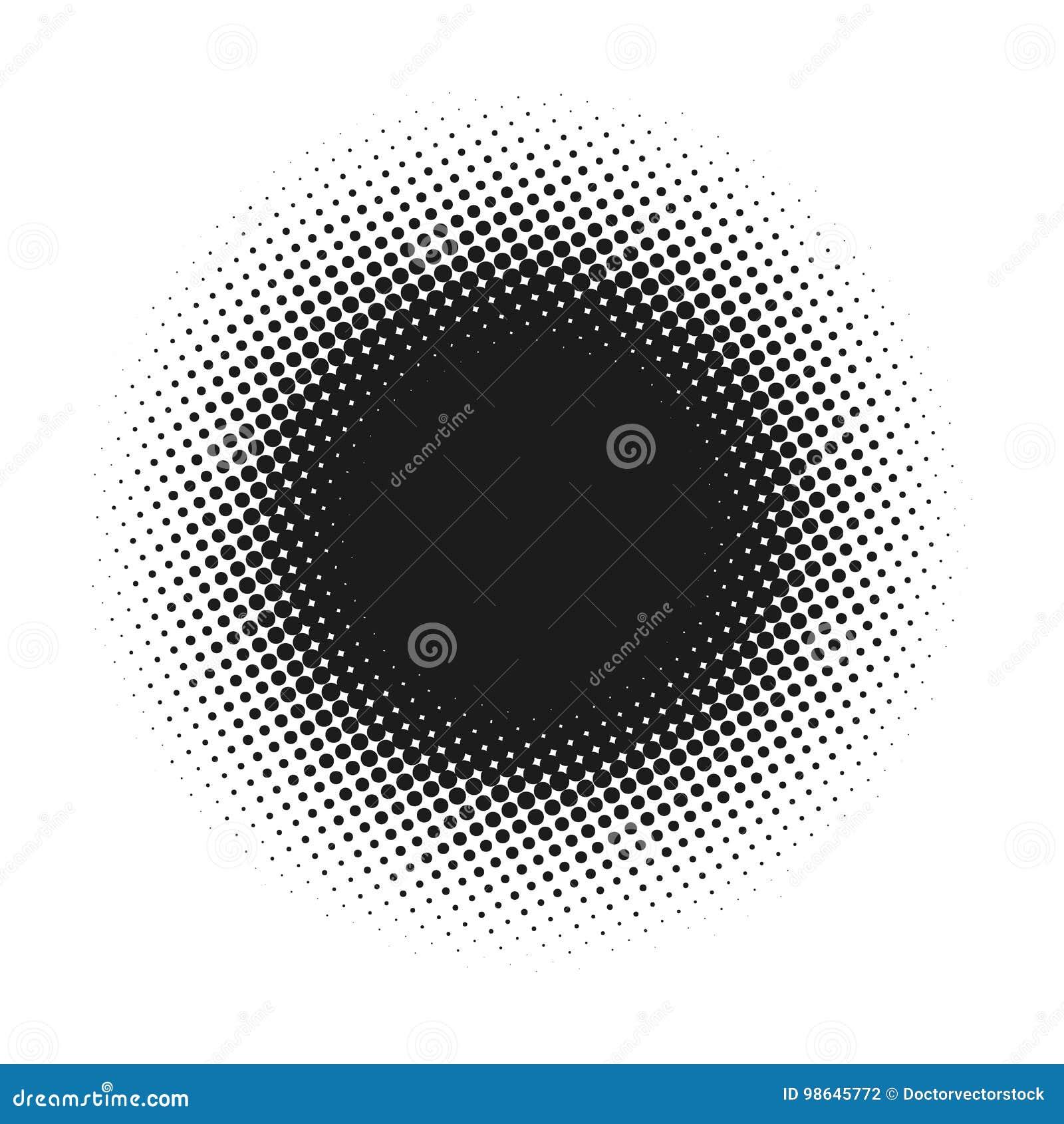 Ημίτονο διαστιγμένο διανυσματικό αφηρημένο υπόβαθρο, σχέδιο σημείων στη μορφή κύκλων Το μαύρο κωμικό έμβλημα απομόνωσε το άσπρο σ