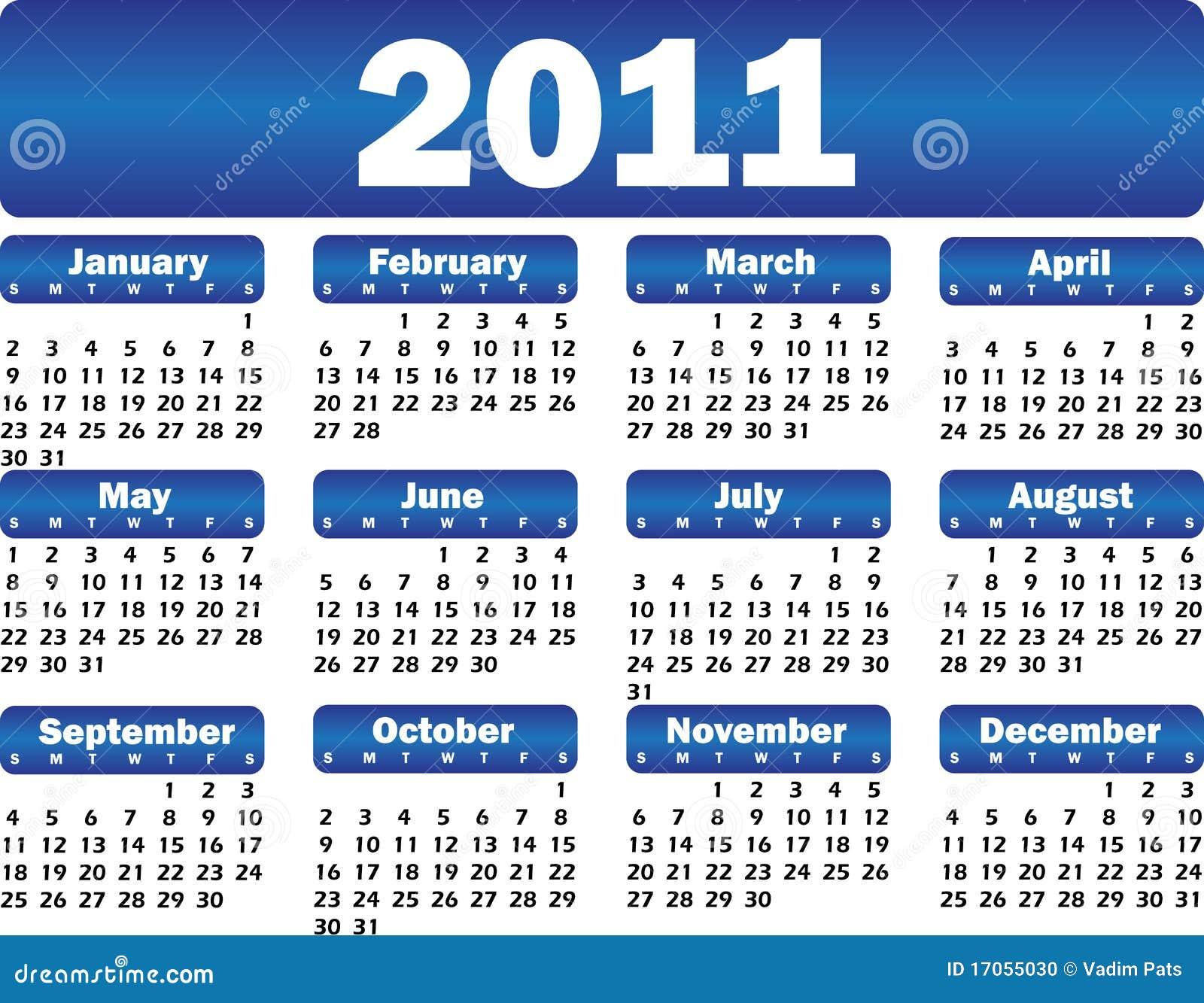 ημερολόγιο του 2011