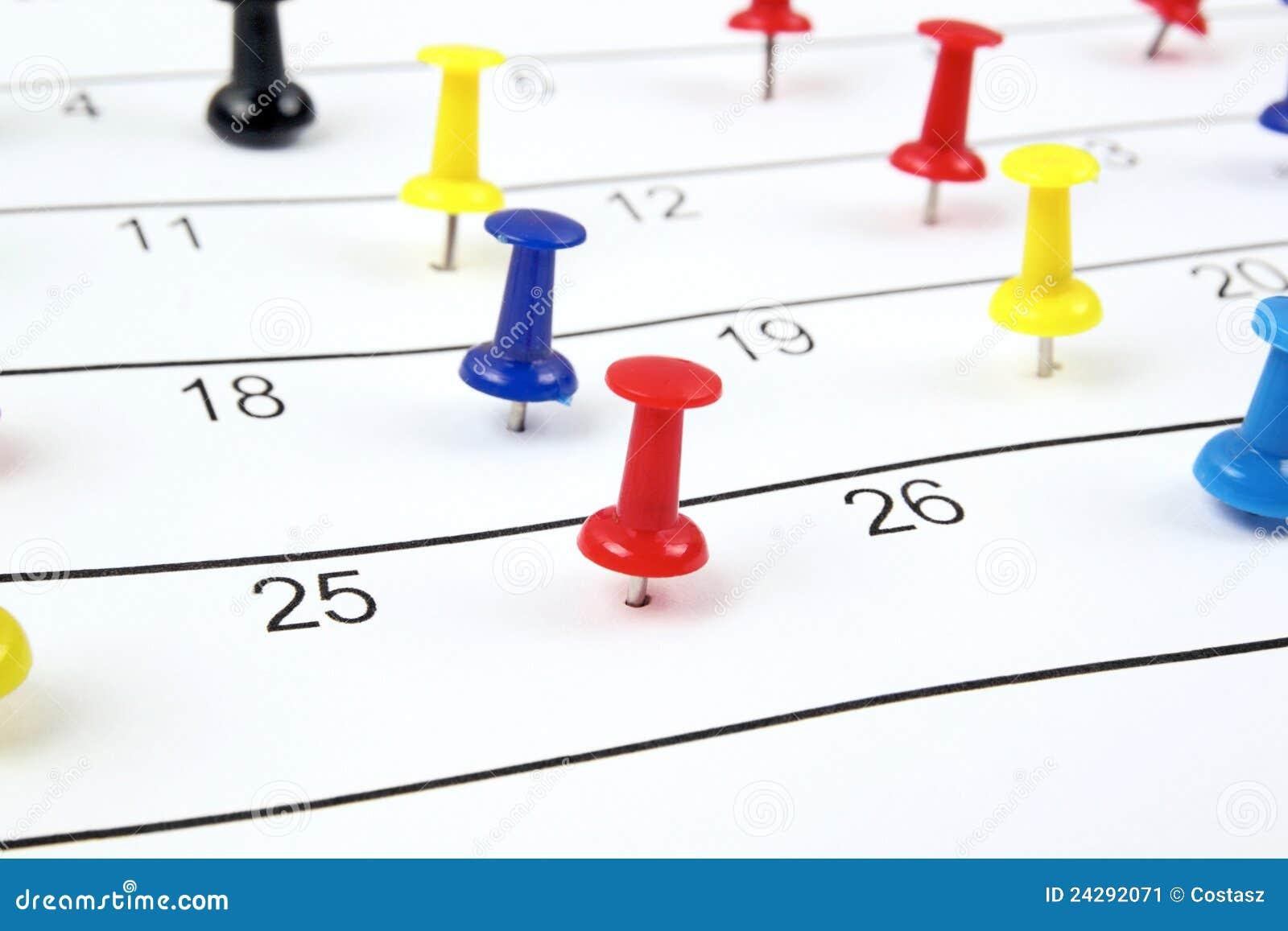 ημερολόγιο pushpins