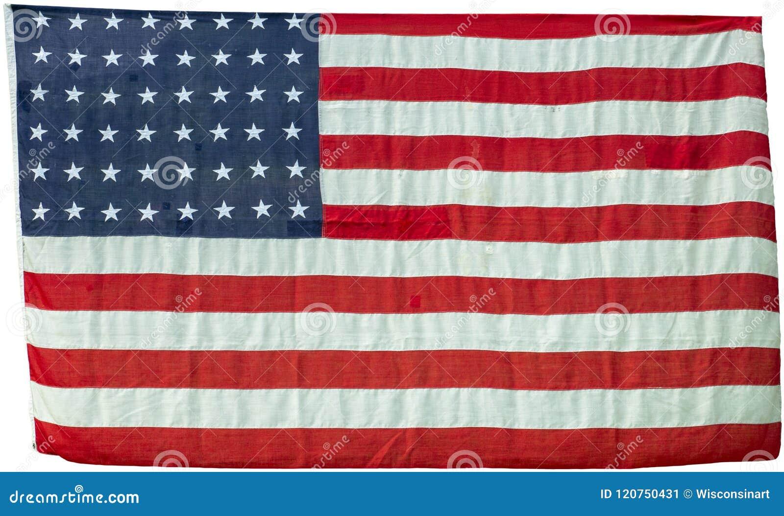 Ηνωμένη σημαία που απομονώνεται εκλεκτής ποιότητας