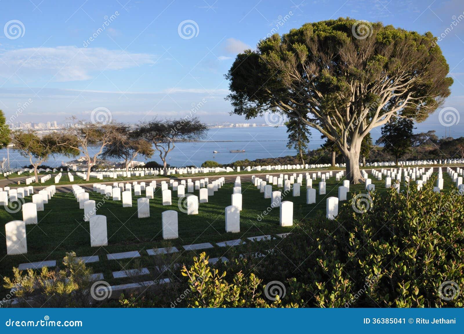 Ηνωμένο στρατιωτικό νεκροταφείο στο Σαν Ντιέγκο, Καλιφόρνια