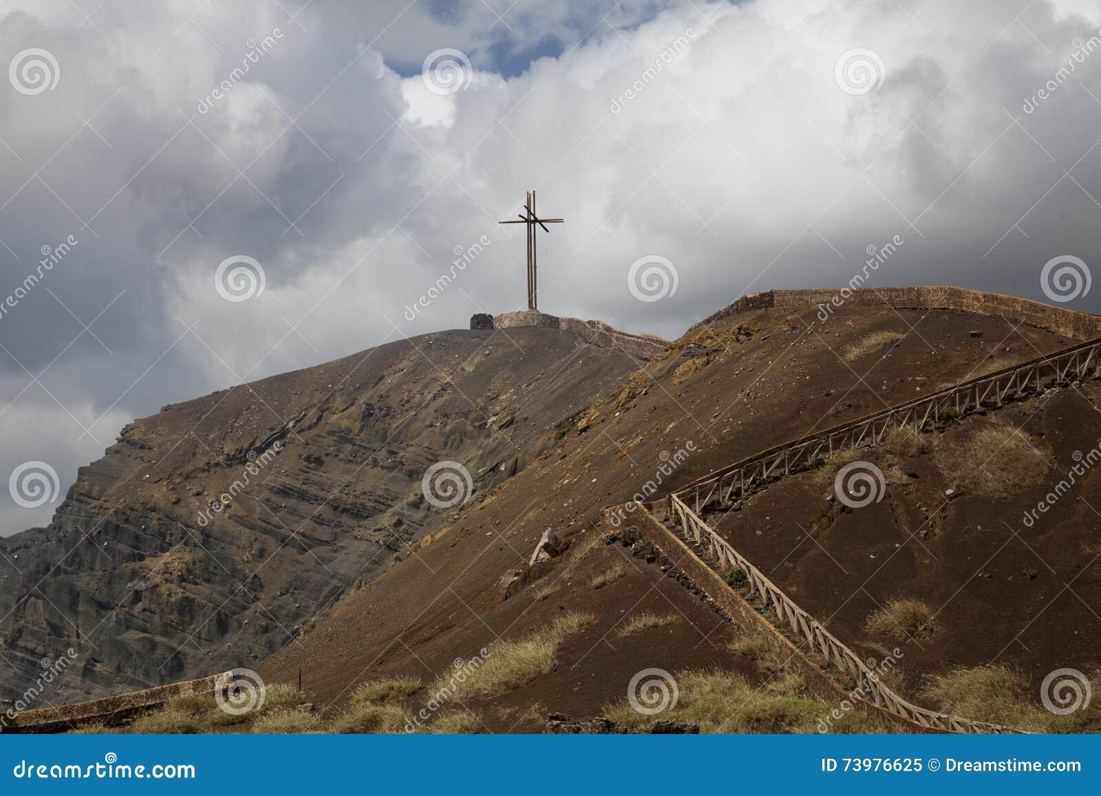 Ηφαίστειο και σταυρός