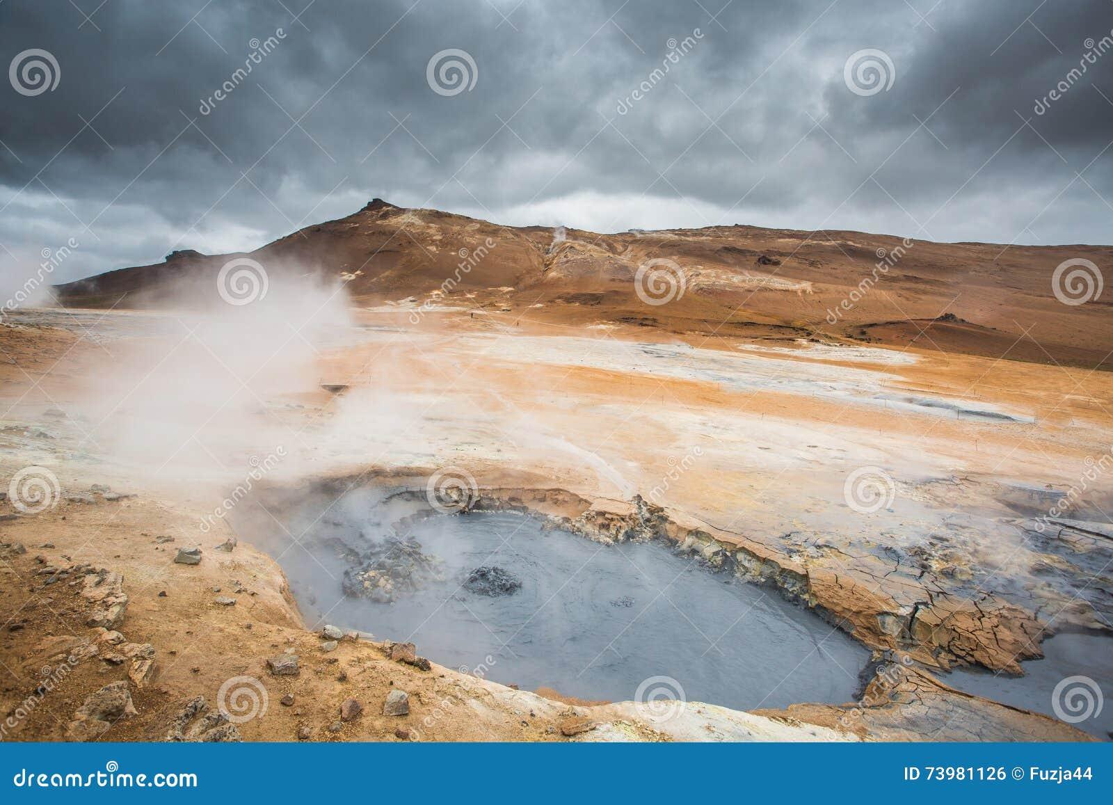Ηφαιστειακό τοπίο, Namafjall Hverir Ισλανδία