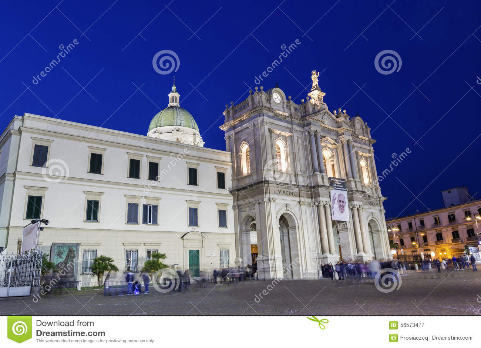 Download Η λάρνακα της Virgin Rosary της Πομπηίας Εκδοτική Φωτογραφία - εικόνα από dusk, λεκάνη: 56573477