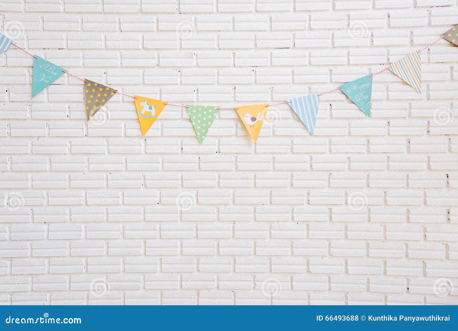 Η άσπρη σημαία τοίχων και κινούμενων σχεδίων, η κρεβατοκάμαρα