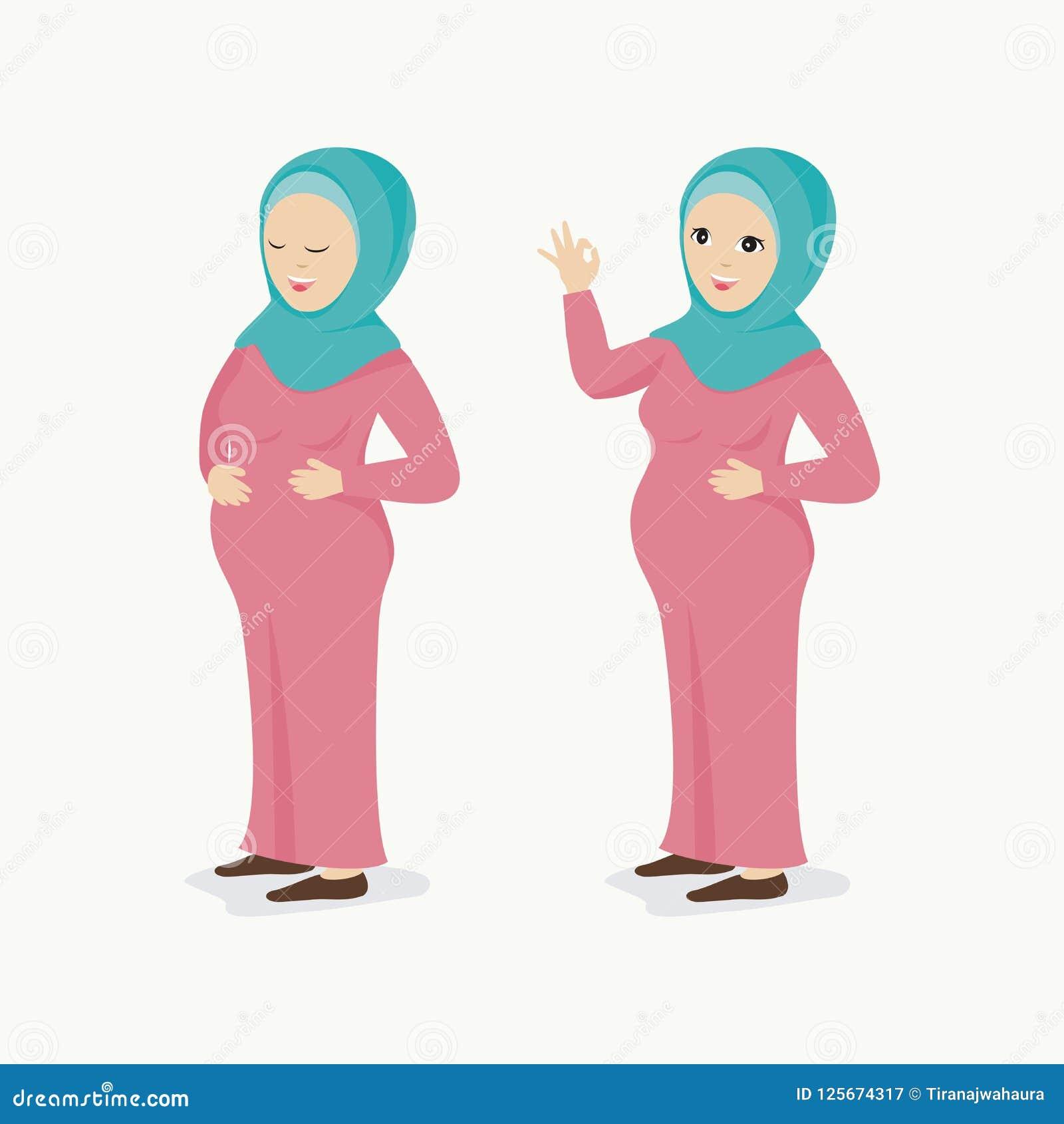 Η έγκυος μουσουλμανική γυναίκα, με τον καλό χαρακτήρα σε δύο θέτει